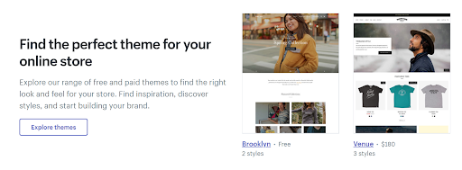 Shopify offers over 70 themes,an app store, and a built-in payment gateway
