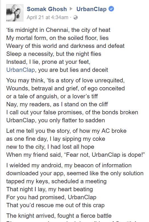Somak poem Urbanclap
