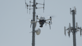 Airware drone during a Cell Tower Inspection