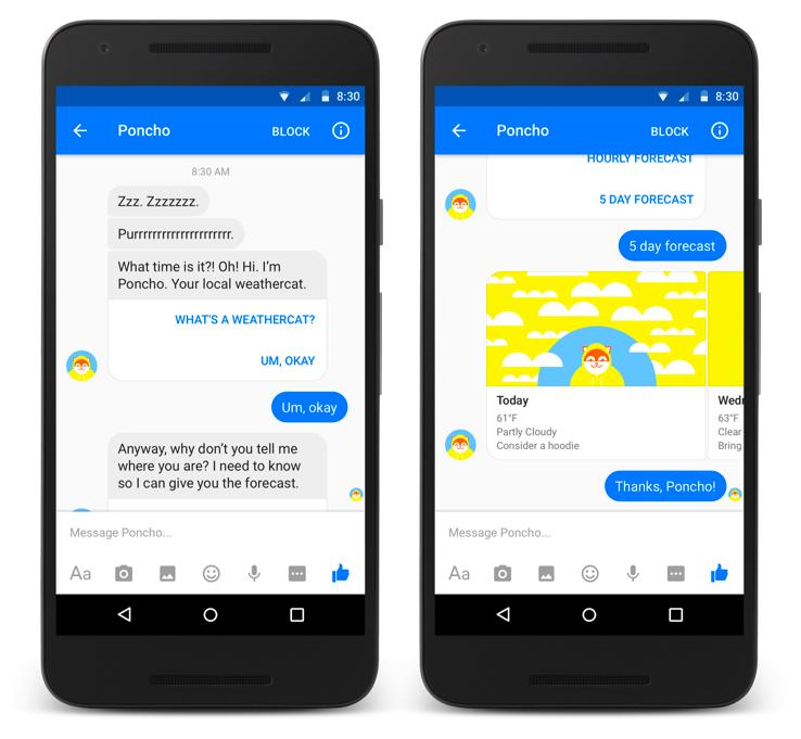 Facebook's interactive bot- Poncho