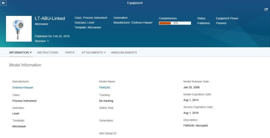 role-based interface of SAP Asset Intelligence Network