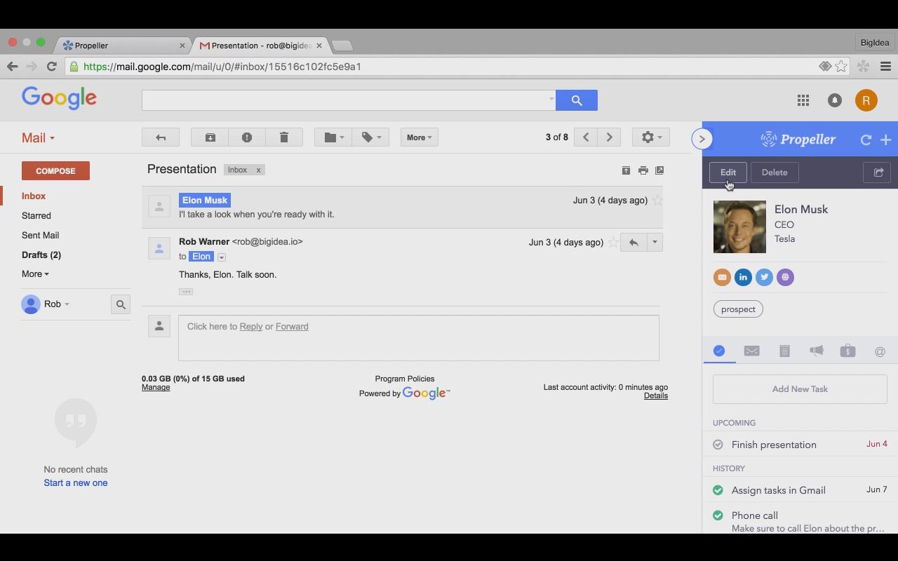 Propeller Gmail
