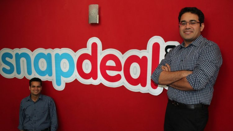 Snapdeal Founders Rohit Bansal (L) with Kunal Bahl (R)